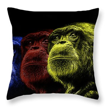 The Colours Of Trepidation  Throw Pillow
