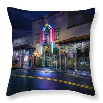 The Columbia Of Ybor Throw Pillow