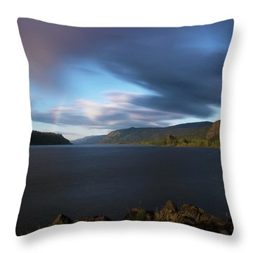 The Columbia River Gorge Signed Throw Pillow