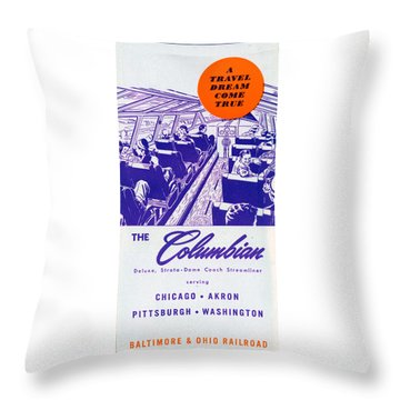 The Columbian Throw Pillow