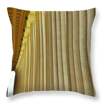The Columns At The Parthenon In Nashville Tennessee Throw Pillow