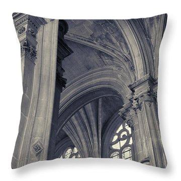 The Columns Of Saint-eustache, Paris, France. Throw Pillow