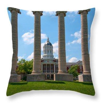 The Columns Throw Pillow