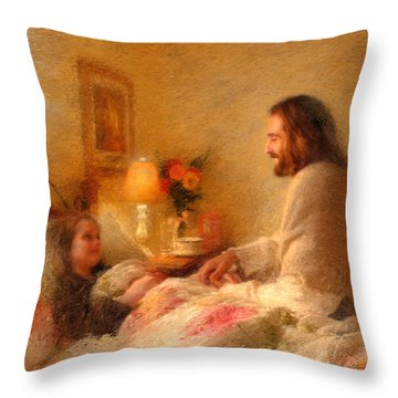 The Comforter Throw Pillow