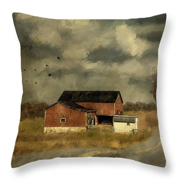 The Coming On Of Winter Throw Pillow by Lois Bryan