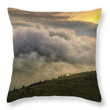 Summer Storm - Roan Mountain Throw Pillow