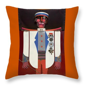 Throw Pillow featuring the painting The Commander by Bob Coonts