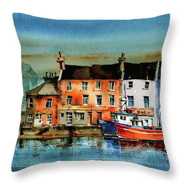 The Commercial Docks, Galway Citie Throw Pillow