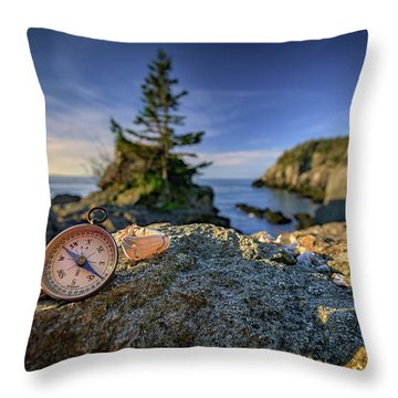 Throw Pillow featuring the photograph The Compass by Rick Berk