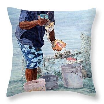 The Conch Man Throw Pillow
