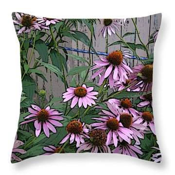 Throw Pillow featuring the photograph The Coneflowers by Skyler Tipton