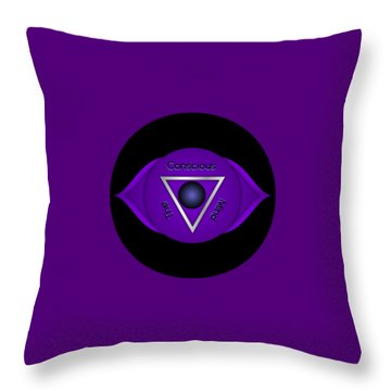 Third Eye Brow Chakra Art Print Inspirational Quote Prints  Throw Pillow