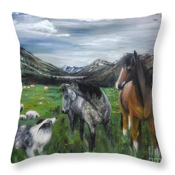 The Conversation 2 Throw Pillow
