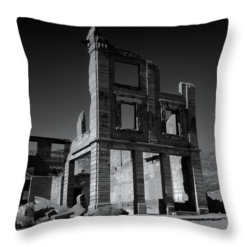 The Cook Bank Building Throw Pillow