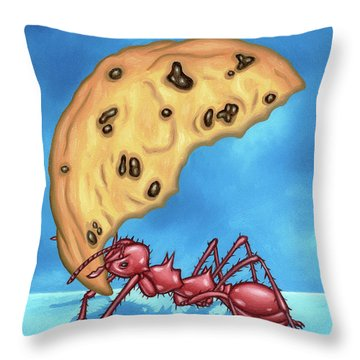 The Cookie Cutter Ant Throw Pillow