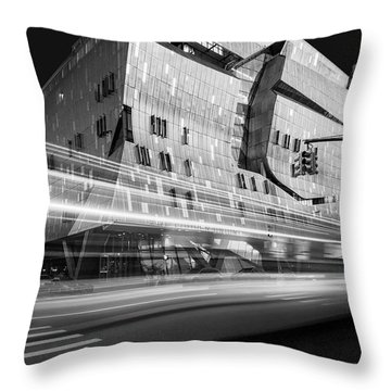 Throw Pillow featuring the photograph The Cooper Union Nyc Bw by Susan Candelario