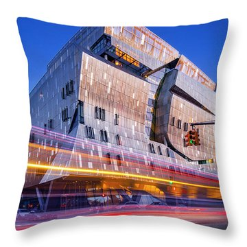 Throw Pillow featuring the photograph The Cooper Union Nyc by Susan Candelario