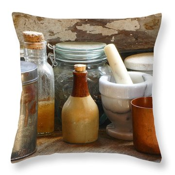 The Copper Cup Throw Pillow