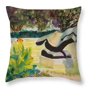 The Corinthian Garden Throw Pillow