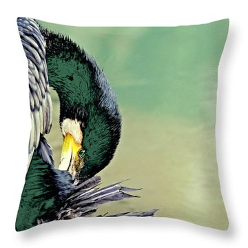 The Cormorant Throw Pillow