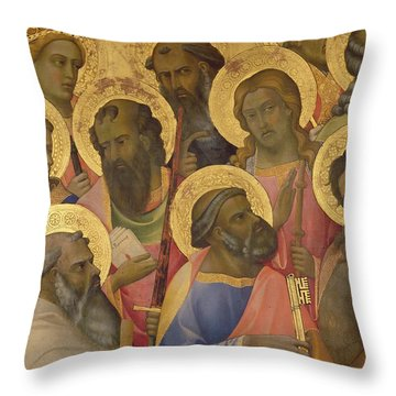 The Coronation Of The Virgin Throw Pillow by Lorenzo Monaco