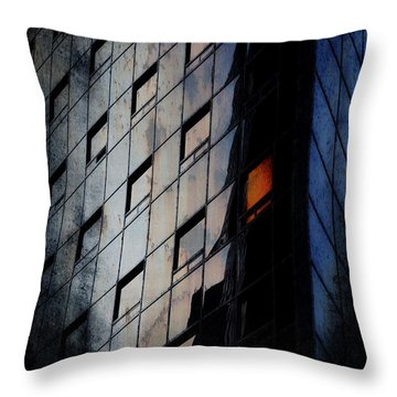 The Corporate Batcave Throw Pillow