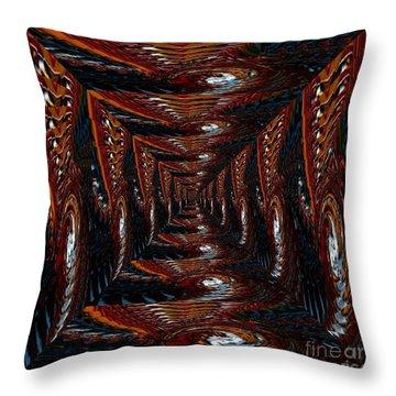 The Corridor To Slip In Throw Pillow
