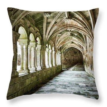 The Corridors Of The Monastery Throw Pillow