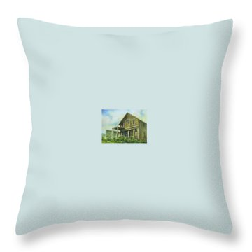 The Cosmopolitan Belmont Ghost Town Nevada Throw Pillow by Kevin Heaney