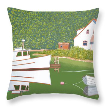 The Cottsge At Blackberry Point Throw Pillow