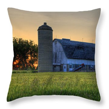 The Country Sunset Throw Pillow
