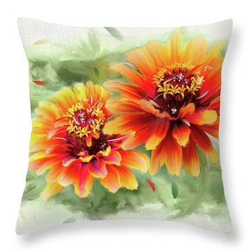 The Couple Throw Pillow by Mary Timman