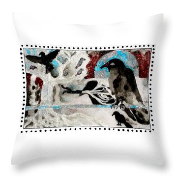 The Courage To Arive In Winter Throw Pillow