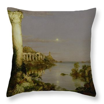 The Course Of Empire - Desolation Throw Pillow by Thomas Cole