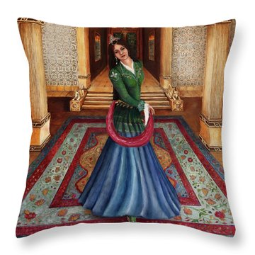 The Court Dancer Throw Pillow