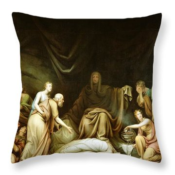 The Court Of Death Throw Pillow by Rembrandt Peale