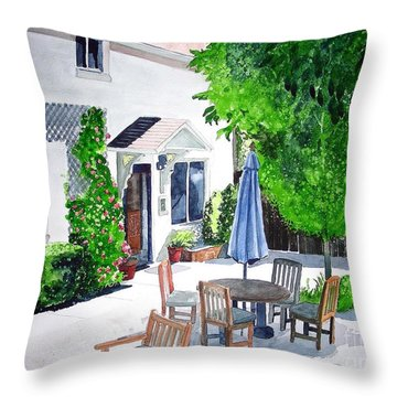 The Court Of Three Sisters Throw Pillow