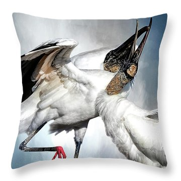 The Courtship Dance Throw Pillow