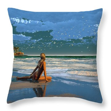 The Courtship Of Sand Throw Pillow