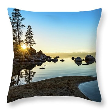 The Cove At Sand Harbor Throw Pillow