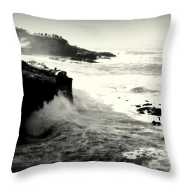 The Cove Throw Pillow by Nature Macabre Photography