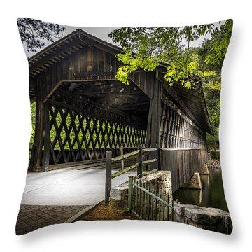 The Coverd Bridge Throw Pillow