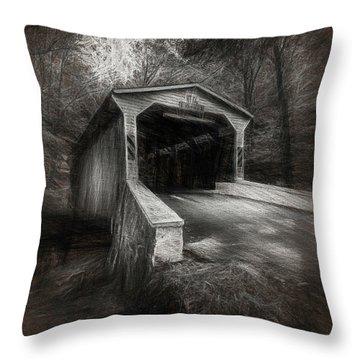The Covered Bridge Throw Pillow