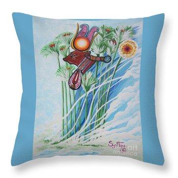 Blaa Kattproduksjoner           The Cow Goddess - Hathor Throw Pillow