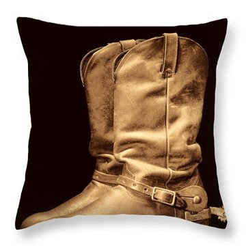 The Cowboy Boots Throw Pillow