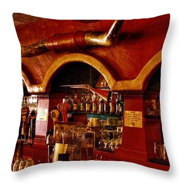 The Cowboy Club Bar In Sedona Arizona Throw Pillow by David Patterson