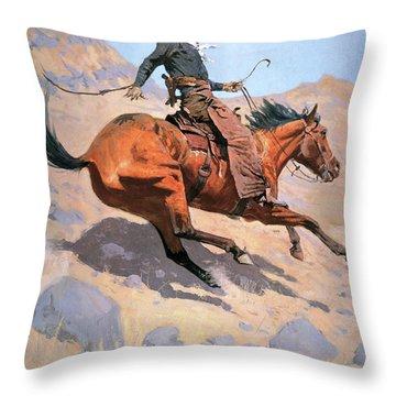The Cowboy Throw Pillow