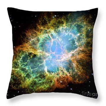 The Crab Nebula Throw Pillow by Nicholas Burningham