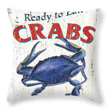 The Crab Shack Throw Pillow