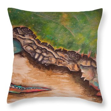 The Crab Throw Pillow